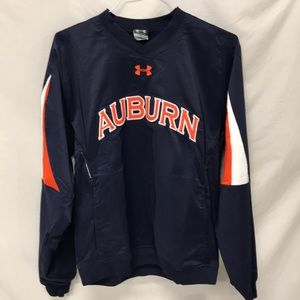 AUBURN 1/4 ZIP UNDER ARMOUR JACKET WITH ZIP pkts